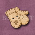 X061 Christmas Mittens Button 28mm x 24mm