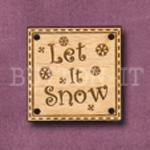 X065 Let It Snow Button 25mm x 25mm
