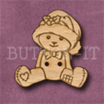 X090 Teddy Bear Button 28mm x 31mm