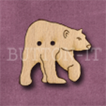 X124 Polar Bear Button 27mm x 25mm