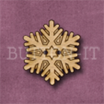 X125 Snowflake Button 25mm x 22mm