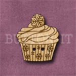 X127 Festive Cupcake Button 23mm x 25mm