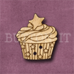 X128 Festive Cupcake Button 23mm x 25mm