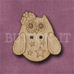 X131 Festive Owl Button 27mm x 27mm