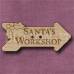 X134 Santa's Workshop Sign 42mm x 18mm