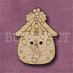 X139 Festive Bird House Button 23mm x 31mm