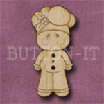 X145 Gingerbread Man Button 17mm x 35mm