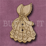 X149 Festive Sunbonnet Sue Button 23mm x 35mm