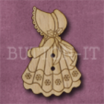 X152 Festive Sunbonnet Sue Button 23mm x 35mm
