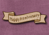 B-HA Happy Anniversary 50mm x 14mm