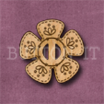 BF-02 Flower Buckle 25mm x 25mm