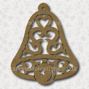 Filigree Craftwood Bell Shape