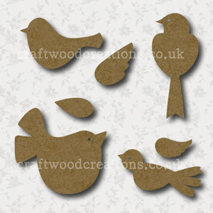 Craftwood Birds Shapes