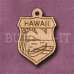 Hawaii Charm 22mm x 31mm