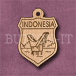 Indonesia Charm 22mm x 31mm