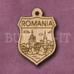 Romania Charm 22mm x 31mm