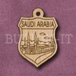 Saudi Arabia Charm 22mm x 31mm