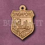 Singapore Charm 22mm x 31mm