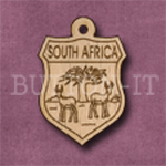 South Africa Charm 22mm x 31mm