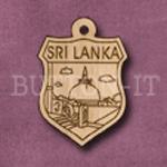 Sri Lanka Charm 22mm x 31mm