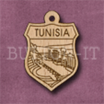 Tunisia Charm 22mm x 31mm