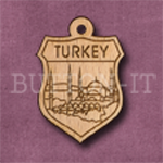 Turkey Charm 22mm x 31mm