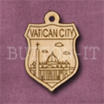 Vatican City Charm 22mm x 31mm