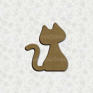 Cat Laser Cut Mdf Shape