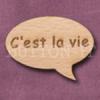 """""""C'est la vie"""" Speech Bubble 36mm x 27mm"""