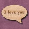 """I love you"" Speech Bubble 36mm x 27mm"