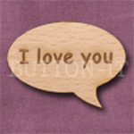 """I love you"" Speech Bubble 36mm x 27mm"