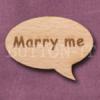 """""""Marry me"""" Speech Bubble 36mm x 27mm"""