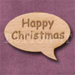 """Happy Christmas"" Speech Bubble 36mm x 27mm"