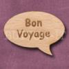 """Bon Voyage"" Speech Bubble 36mm x 27mm"