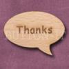 """Thanks"" Speech Bubble 36mm x 27mm"