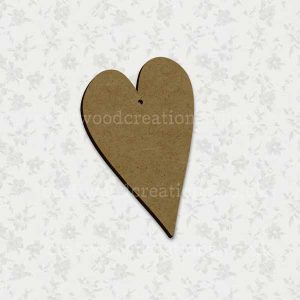 Folk Heart Laser Cut Mdf Shape