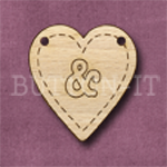 HB-& Heart Bunting 26mm x 28mm