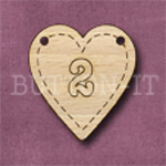 HB-2 Heart Number Bunting 1 26mm x 28mm