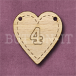 HB-4 Heart Number Bunting 26mm x 28mm
