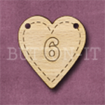 HB-6 Heart Number Bunting 26mm x 28mm