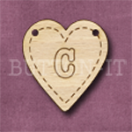 HB-C Heart Bunting 26mm x 28mm