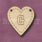 HB-G Heart Bunting 26mm x 28mm