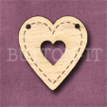 HBUN-2 Heart Bunting Heart 26mm x 28mm