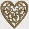 Filigree Craftwood Heart Shape