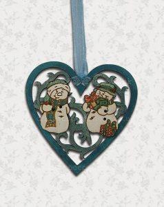 Feligree Heart Christmas Decoration