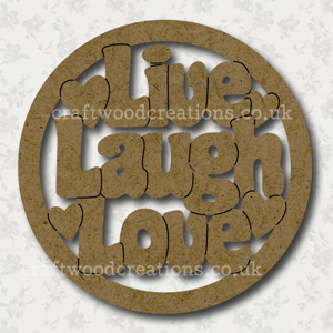 Craftwood Live Laugh Love