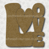 Craftwood Love Sign