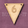 NB-6 Number Bunting 28mm x 30mm
