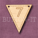 NB-7 Number Bunting 28mm x 30mm