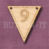 NB-9 Number Bunting 28mm x 30mm